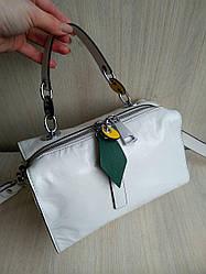 Женская кожаная сумка в стиле  Polina & Eiterou белая