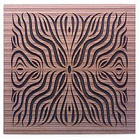 Акустическая панель Ecosound Chimera F Venge Contrast 50x50см 53мм Цвет коричневый в полоску, фото 1