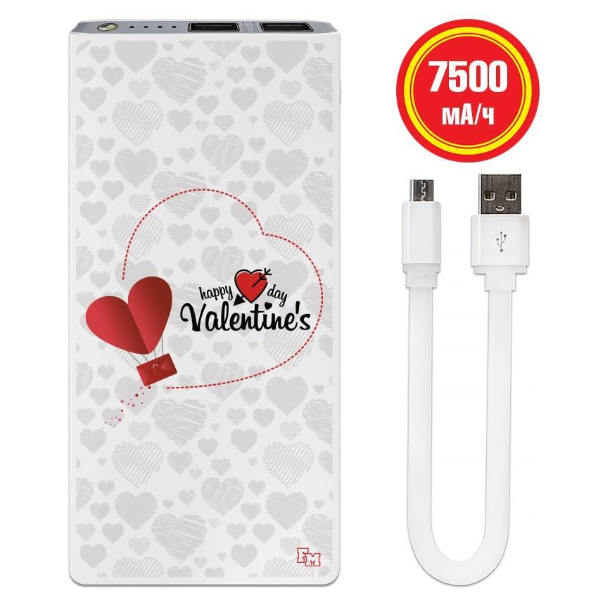 Зарядное устройство Счастливого дня Валентина, 7500 мАч (E189-53)