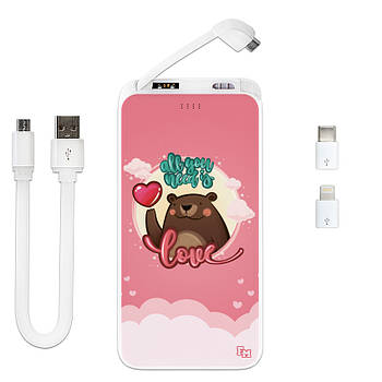 Дополнительный универсальный аккумулятор All You Need Is Love, 10000 мАч (E510-54)