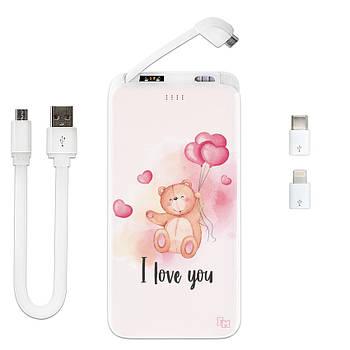 Внешнее зарядное устройство I Love You, 10000 мАч (E510-55)