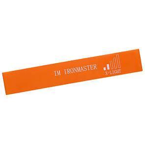 Стрічка-еспандер для фітнесу Iron Master 600x50x0,6 помаранчевий