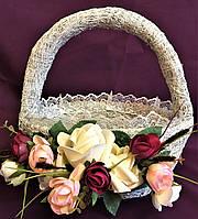 Корзина плетенная для декора малая (23*23*15)