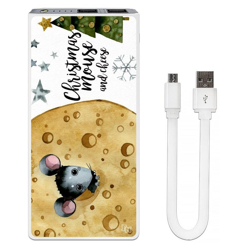 Дополнительный мобильный аккумулятор Новогодний сыр, 7500 мАч (E189-45)