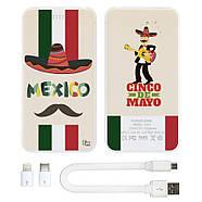 Универсальная мобильная батарея Мексиканец, 10000 мАч (E510-08), фото 3