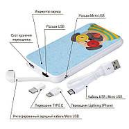 Портативная мобильная батарея Полосатый Мопс, 10000 мАч (E510-16), фото 4