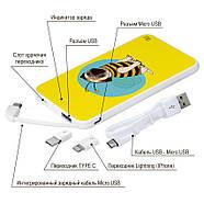 Внешний аккумулятор Полосатый Мопс, 5000 мАч (E505-05), фото 4