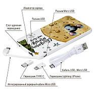 Дополнительный мобильный аккумулятор Новогодний сыр, 5000 мАч (E505-45), фото 4
