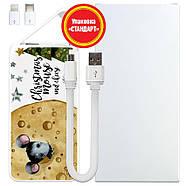 Дополнительный мобильный аккумулятор Новогодний сыр, 5000 мАч (E505-45), фото 5