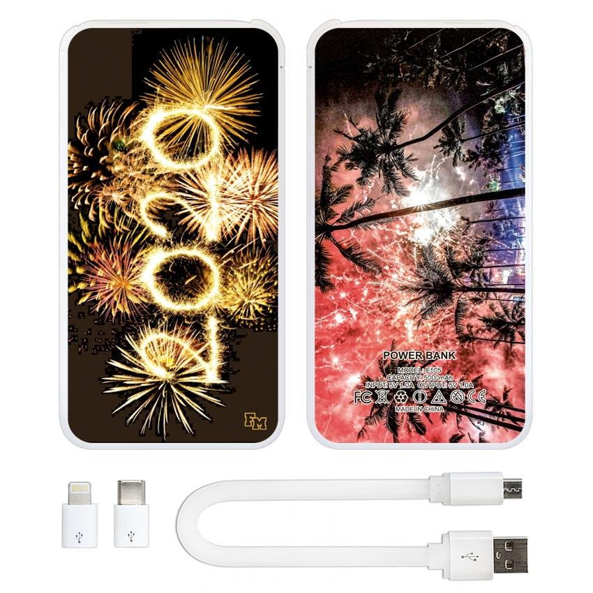 Новогодняя универсальная мобильная батарея 2020, 5000 мАч (E505-46)