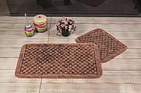 Набор ковриков  для ванной комнаты eskitme kutucuk. Турция, коричневый
