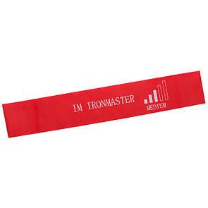 Стрічка-еспандер для фітнесу Iron Master 600x50x0,95 червоний