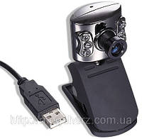 Web camera веб камера с подсветкой и микрофоном (Арт: 972)