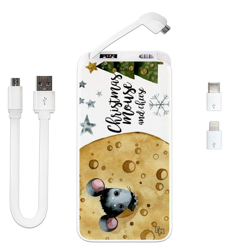 Дополнительный мобильный аккумулятор Новогодний сыр, 10000 мАч (E510-45)