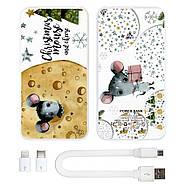 Дополнительный мобильный аккумулятор Новогодний сыр, 10000 мАч (E510-45), фото 3