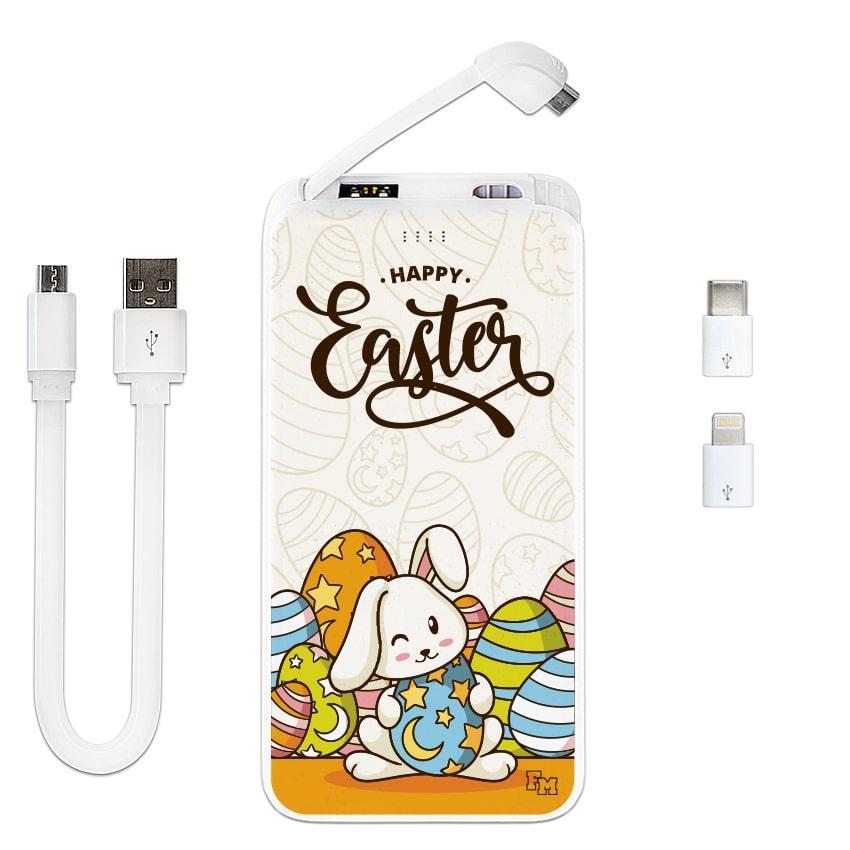 Мобильное зарядное устройство Пасхальные Кролики, 10000 мАч (E510-61)