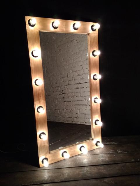 Гримерне дзеркало з лампами в стилі лофт. АКЦІЯ -25% до 03.04.20