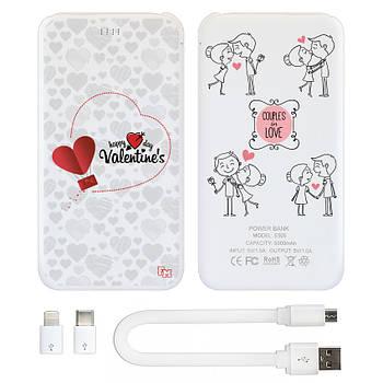 Зарядное устройство Power Bank Счастливого дня Валентина, 5000 мАч (E505-53)