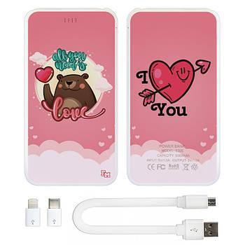 Дополнительный универсальный аккумулятор All You Need Is Love, 5000 мАч (E505-54)