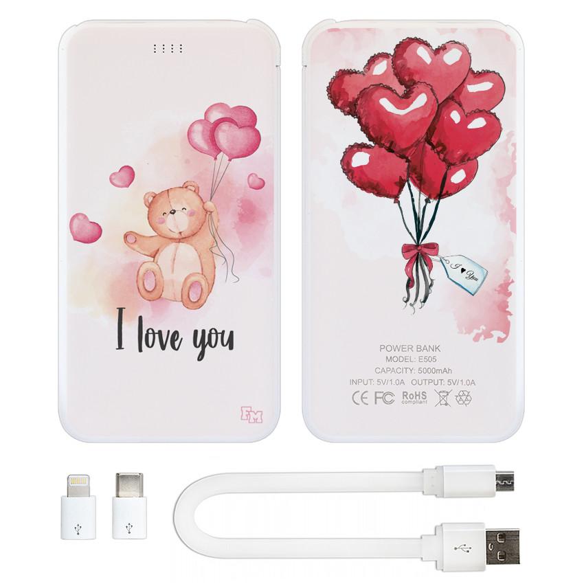 Зарядное устройство I Love You, 5000 мАч (E505-55)