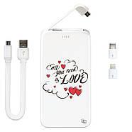 Портативная мобильная батарея Love Is All Around, 5000 мАч (E505-57), фото 3