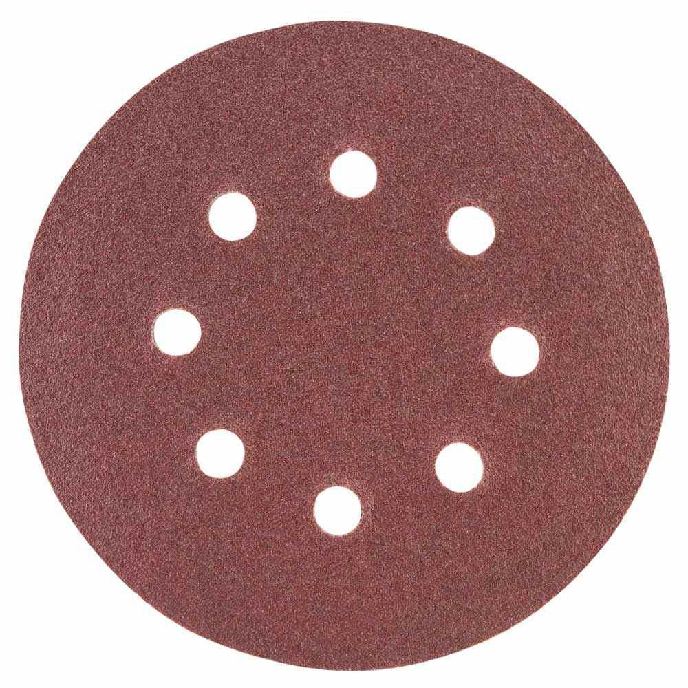 Шлифовальный круг 8 отверстий Ø125мм P120 (10шт) SIGMA (9122671)