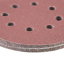 Шлифовальный круг 8 отверстий Ø125мм P120 (10шт) SIGMA (9122671), фото 2
