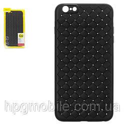 Чехол для iPhone 6 Plus, iPhone 6S Plus - Baseus, плетёный, пластик, черный, #WIAPIPH6SP-BV01