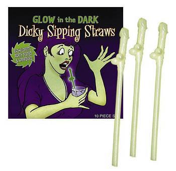 Трубочки для пиття Penis-Straws Glowing