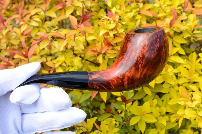 Курительная трубка Horn из бриара высокого качества ручной работы прямоток