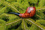 Курительная трубка Horn из бриара высокого качества ручной работы прямоток, фото 3