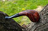 Трубка Horn из бриара высокого качества ручной работы прямоток, фото 5