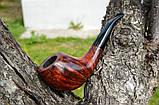 Курительная трубка Horn из бриара высокого качества ручной работы прямоток, фото 6