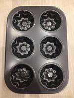 Форма для выпекания кексов 6шт. Размер 26*18см