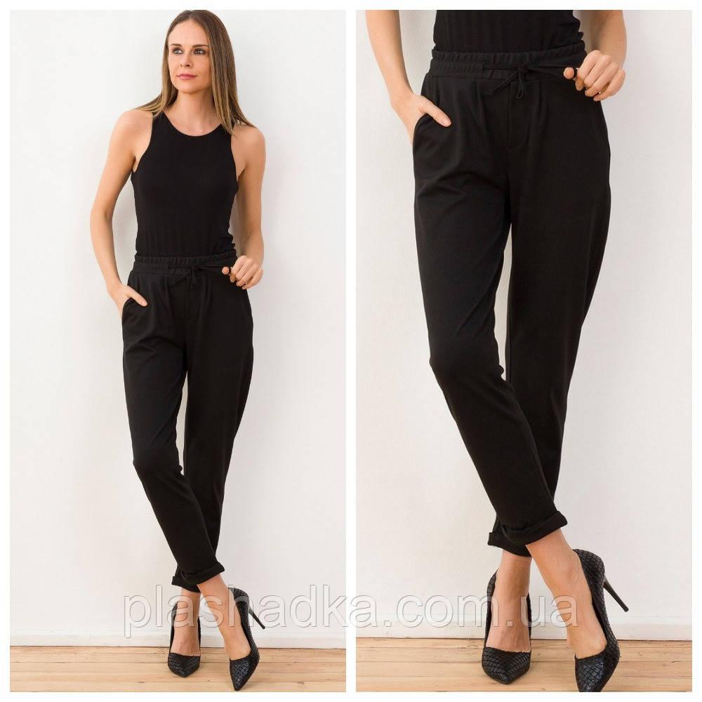 Брюки черные женские. модные джоггеры (Турция)