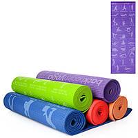 Коврик для занятий спортом йоги Йогамат оригинальный