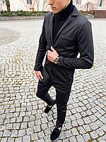 Классический костюм мужской кашемировый антрацит / ЛЮКС качества, фото 1