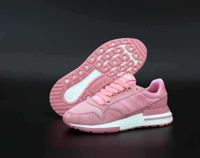 Женские кроссовки Adidas ZX-500 в розовом цвете фот