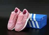 Женские кроссовки Adidas ZX-500 в розовом цвете, фото 1