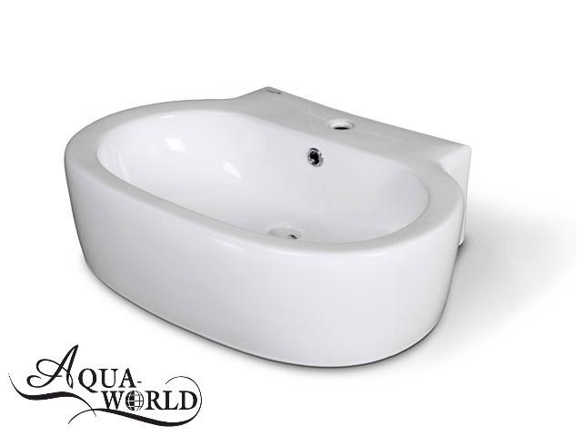 Умывальник настенный подвесной 600 х 440 мм Aqua-World
