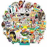 "25шт. Наклейки стикеры на ноутбук, скутер , скейт, шлем, автомобиль ""Хиппи"" (273847584), фото 2"