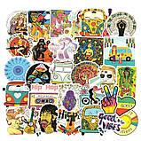 "25шт. Наклейки стикеры на ноутбук, скутер , скейт, шлем, автомобиль ""Хиппи"" (273847584), фото 3"