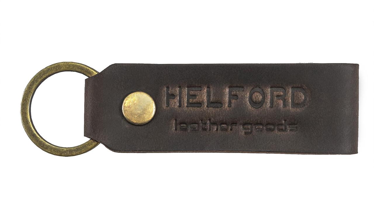 Брелок для ключей из кожи тёмно-коричневый HELFORD Классик brn (1131705318)