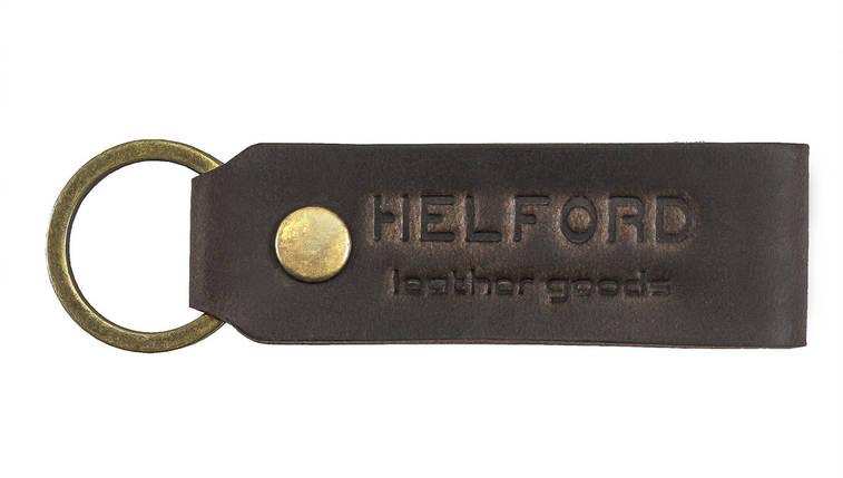 Брелок для ключей из кожи тёмно-коричневый HELFORD Классик brn (1131705318), фото 2