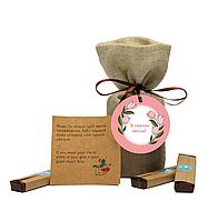 """Шоколадный набор с предсказаниями """"Зі святом Весни"""" оригинальный подарок на 8 марта"""