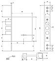 Замок Apecs (Апекс) T-57/S8-CR врезной для металлических дверей, фото 7