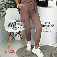 Женские брюки КАРГО костюмка