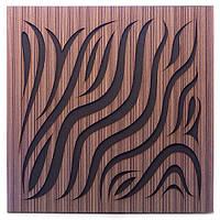 Акустическая панель Ecosound Chimera Venge Contrast 50x50см 33мм цвет коричневый в полоску, фото 1