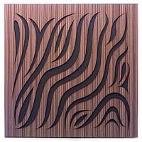 Акустическая панель Ecosound Chimera Venge Contrast 50x50см 53мм цвет коричневый в полоску, фото 1