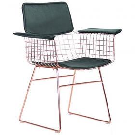 Кресло Mino, rose gold, emerald (AMF-ТМ)